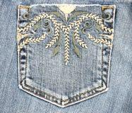 карманн джинсыов Стоковые Фотографии RF