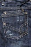 карманн джинсыов Стоковое Изображение RF