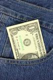 карманн доллара одного счета Стоковые Изображения RF