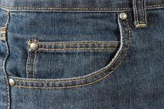 Карманн джинсов переднее Стоковое фото RF