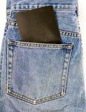 Карманн джинсов с пустым примечанием Стоковое Изображение RF