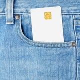 карманн джинсыов кредита карточки Стоковая Фотография RF
