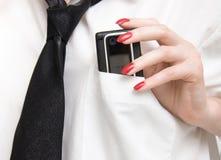 карманн мобильного телефона Стоковое Изображение