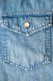 Карманн на джинсовой ткани Стоковые Изображения RF