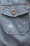 Карманн рубашки джинсовой ткани Стоковые Изображения