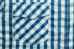 Карманн рубашки шотландки Стоковое Изображение