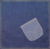 карманн ткани джинсовой ткани Стоковое Изображение