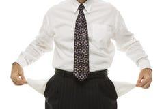 карманн s бизнесмена пустые Стоковая Фотография RF