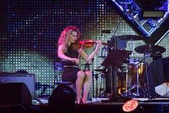 Кармен Consoli, на этапе концерта 1-ого мая стоковое изображение rf