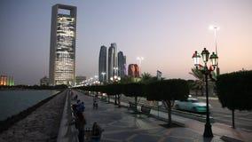 Карниз в Абу-Даби, ОАЭ акции видеоматериалы