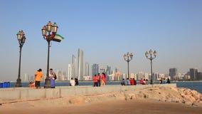 Карниз в Абу-Даби, ОАЭ сток-видео