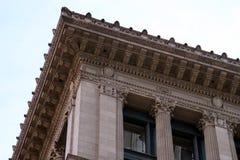 карниз здания декоративный Стоковое фото RF