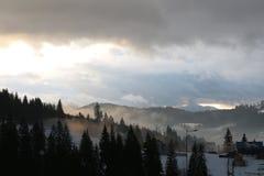 Карпаты в зиме Стоковая Фотография