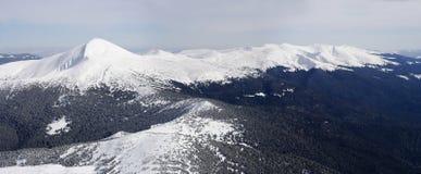 Карпат в зиме Стоковые Изображения RF