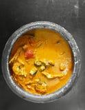Карри рыб Кералы в плите грязи стоковое изображение rf
