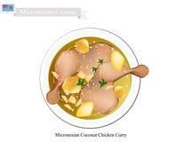 Карри цыпленка кокоса, популярное блюдо Микронезии Стоковые Фото