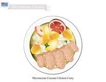 Карри цыпленка кокоса, популярное блюдо Микронезии Стоковая Фотография
