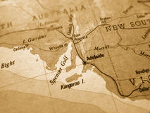 карта Австралии старая Стоковая Фотография RF