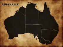 Карта Австралии Стоковое Изображение RF