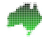карта Австралии Стоковые Фотографии RF
