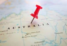 карта Австралии континентальная политическая Стоковые Фото
