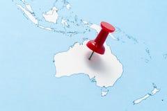 карта Австралии Стоковое фото RF