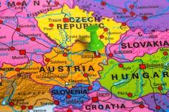 Карта Австрии вены стоковое фото rf