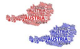 Карта Австрии - иллюстрации вектора Стоковые Изображения
