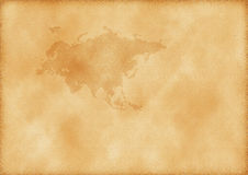 карта Азии европы старая Стоковая Фотография