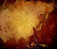 карта Азии Стоковые Фотографии RF