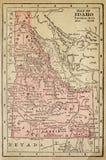 карта Айдахо стоковое изображение