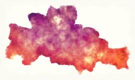 Карта акварели провинции Kampong Cham Камбоджи бесплатная иллюстрация