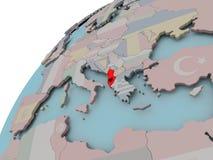Карта Албании с флагом Стоковые Изображения RF