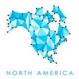 карта америки континентальная северно политическая иллюстрация вектора