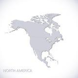 карта америки континентальная северно политическая также вектор иллюстрации притяжки corel Стоковые Изображения