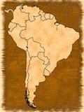 карта америки южная Стоковое фото RF