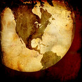карта америки Стоковое Изображение RF