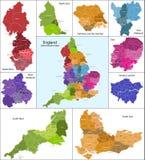 карта Англии Стоковое Изображение RF