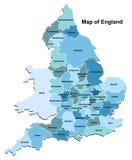 Карта Англии Стоковые Фотографии RF