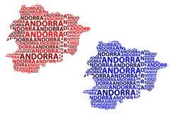 Карта Андорры - иллюстрации вектора Стоковое Изображение