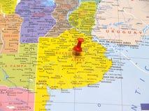 карта Аргентины Стоковое Изображение RF