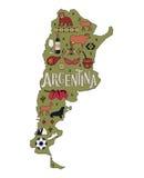 Карта Аргентины Стоковое Фото