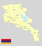 Карта Армении стоковое изображение