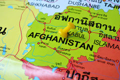 Карта Афганистана Стоковая Фотография