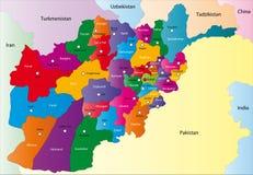 Карта Афганистана Стоковое фото RF