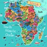 карта Африки континентальная политическая иллюстрация вектора