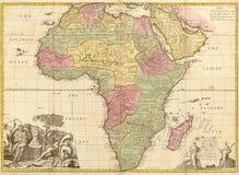карта Африки стародедовская