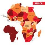 карта Африки Стоковые Изображения RF