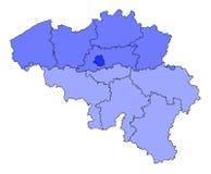 карта Бельгии Стоковые Изображения