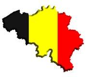 карта Бельгии Стоковое Изображение RF